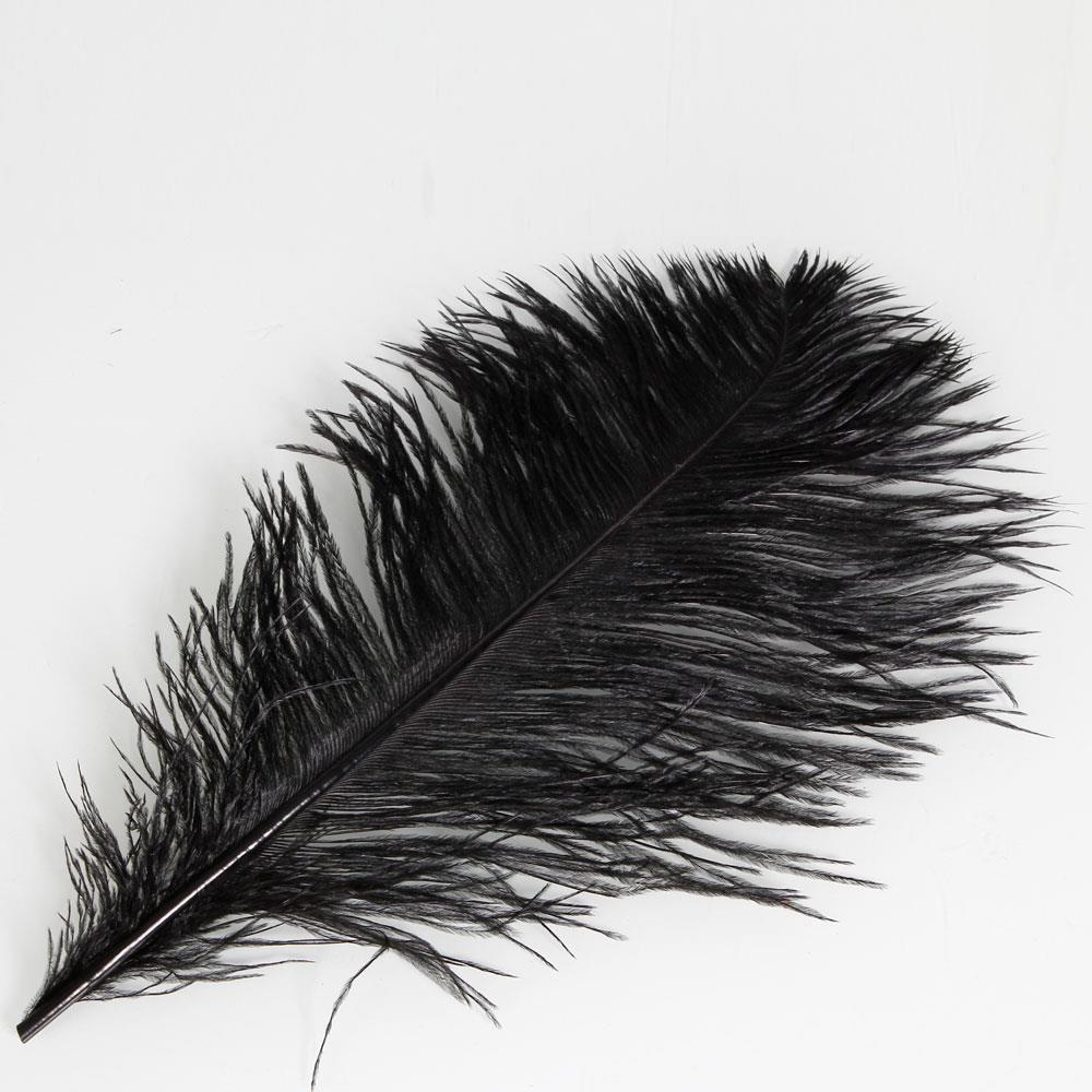 10-200 pcs high-quality natural ostrich feathers 6-24 inch//15-60cm Black