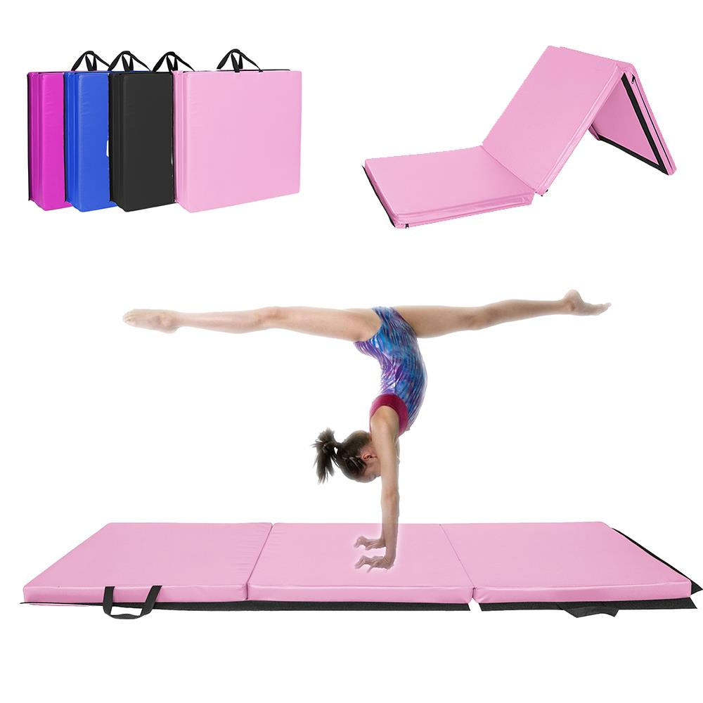 2 X5 Fold Gymnastics Mat Thick Gym Fitness Exercise Pad Non Slip Yoga Tumbling Ebay
