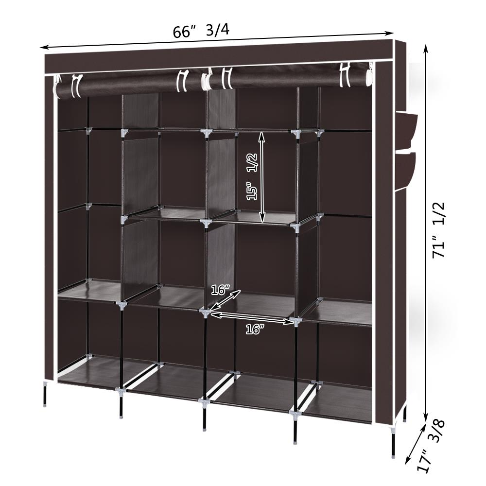 2 Hanging Clothes Rack Organizer Closet Armoire Durable ...